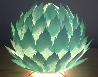 Table/night light lamp 'Roadmap' water color (turquoise very clear)(116g)