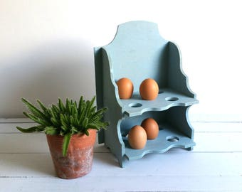 Old-fashioned stock rack for eggs