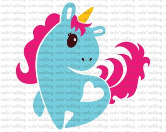 Unicorn svg, Unicorn dxf, Horse svg, Horse dxf, jpeg, cuttable, cutting files for Silhouette Cameo, Portrait, Curio, Cricut