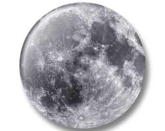 """The Full Moon   1"""" inch Pinback Button  ***Free Shipping to United States***"""