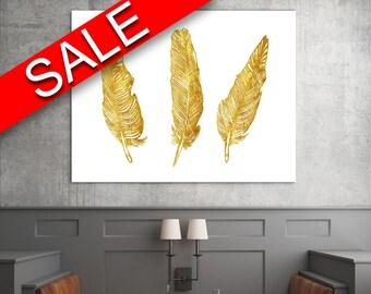 Wall Art Gold Digital Print Gold Poster Art Gold Wall Art Print Gold Feathers Art Gold Feathers Print Gold Wall Decor Gold tribal art print
