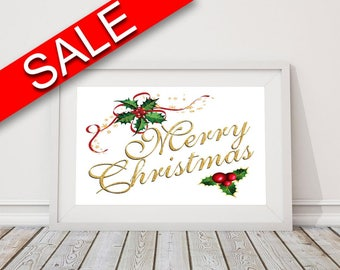 Wall Decor Merry Christmas Printable Merry Christmas Prints Merry Christmas Sign Merry Christmas Christmas Art Merry Christmas Christmas