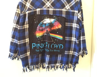 Pink Floyd Flannel Button-Down Shirt