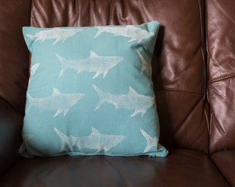 Shark Print Cushion Cover