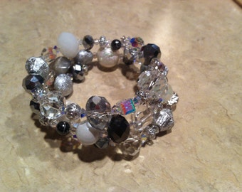 Stunning Crystal Memory Wire Bracelet