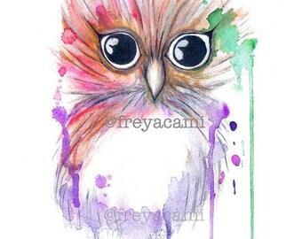 Owl 1 by Freya Cami - A4 Print