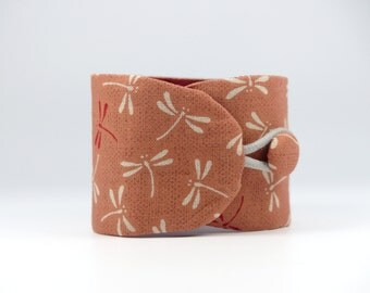 Obi-Style Cuff Bracelet, Japanese Fabric, Taylor-Made