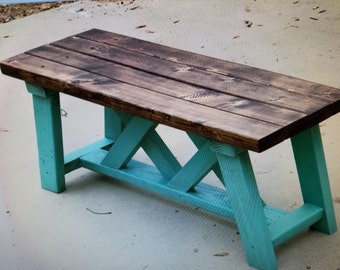 Wooden Farmhouse Style Bench