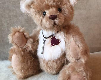 Theo - artist made, handmade, mohair, teddy bear, collectible, one-of-a-kind