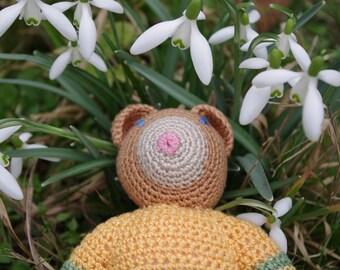 Ernest - Handmade crochet Teddy bear