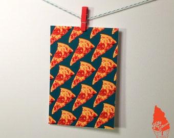 Pepperoni Pizza Pattern Postcard