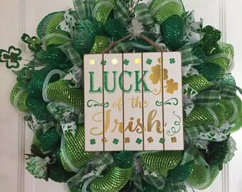 St. Patricks Day Wreath   READY TO SHIP
