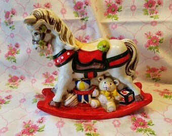 Vintage Enesco Rocking Horse bank