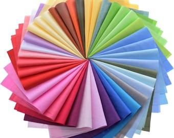 20cmx30cm x 38 pc LOT   Random Mix Solid Color Cotton Fabric For Patchwork Quilts Fabric Bundle
