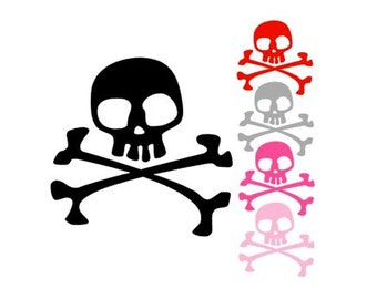 SKULL and CROSSBONES Pirate Inspired Quality Vinyl Decal