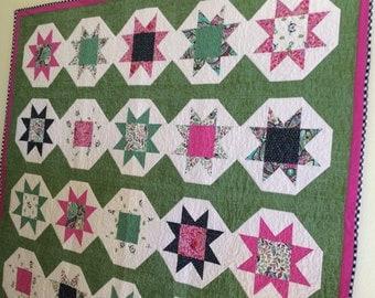 SALE!  Patchwork quilt, homemade quilt, wall art, lap quilt, throw quilt