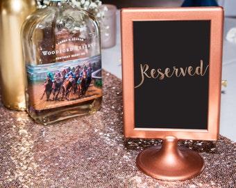 Copper Wedding Sign, Wedding Frame, Table Number, Wedding Signage