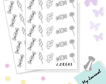 Doodle candy stickers