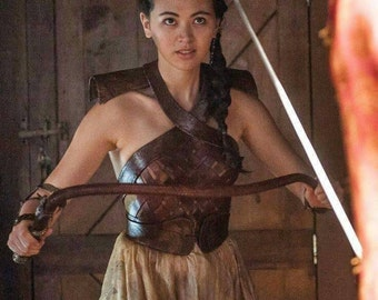 Game of thrones cosplay Nymeria Sand  battlesuit leather