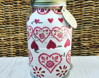 Large hand decorated jar