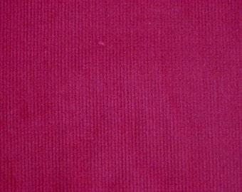 Burgundy Red Pinwale Cotton Corduroy, 120 cm width