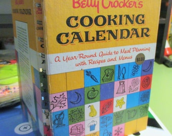 Betty Crockers cooking calendar cookbook--1962 1st edition-h/c-176 pgs.illustrated