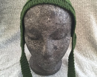 Hand knit pure wool bonnet