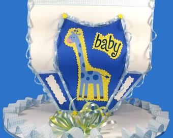 Baby Boy Diaper Table Centerpiece