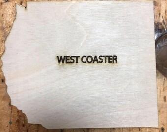 USA Coasters Shaped Wood West Coaster Coasters
