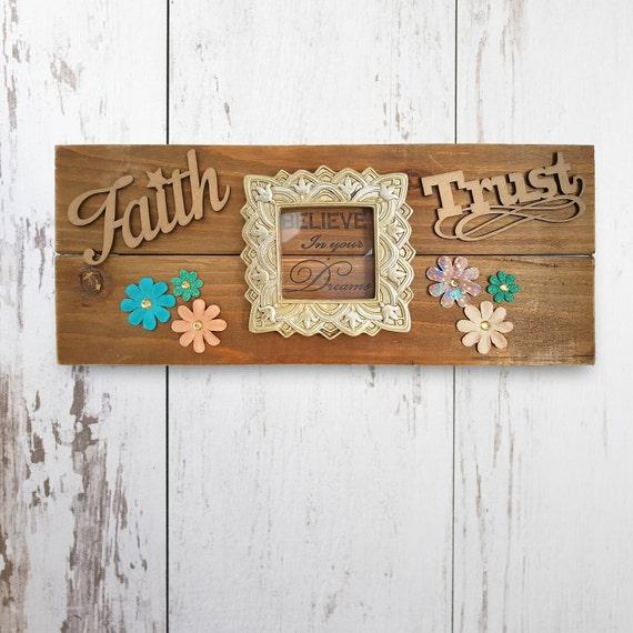 Dream Wood Wall Decor : Dream sign belief faith wall decor home by