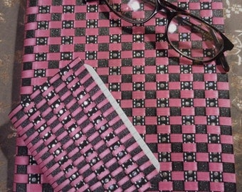 Pink and Black Notebook Set