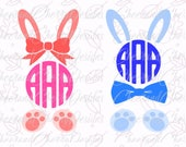 Easter SVG Easter Monogram SVG Bunny Monogram SVG Bunny svg Bunny ears Clipart Rabbit Cut Files for Silhouette svg files for cricut boys svg