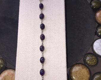 Purple onyx bracelet