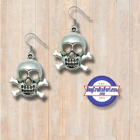PIRATE Skull & Cross Bones Earrings - A  FAVORiTE! +Discounts and FREE SHIPPING*