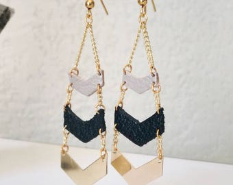 VERY ELEGANT HERRINGBONE earrings