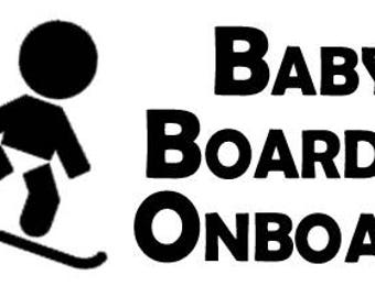 Baby Boarder Onboard Vehicle Window Decal w/ free shipping