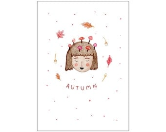 Autumn postcard print: seasons series