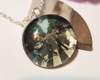 The Beatles Necklace/ The Beatles/ Abbey Road Necklace/ Beatles Fan/ The Beatles/ Rock Music/ Beatles Pendant/ 60s/ 70s/ Album Artwork/