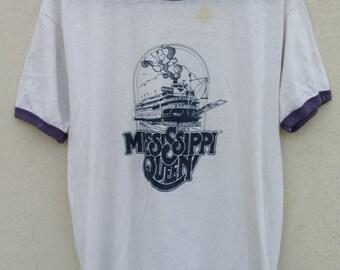 Vintage Mississippi Queen Ringer Tee