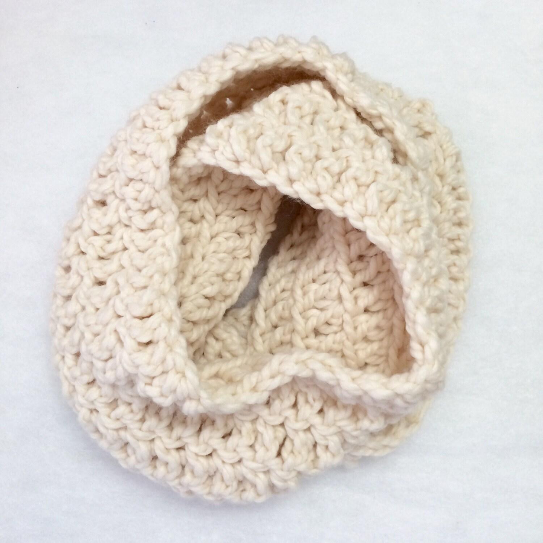 Crochet Infinity Scarf, Crochet Cowl, Chunky Cowl, Chunky Scarf ...