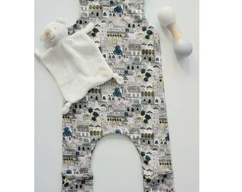 Sketched Harem Romper, Baby Romper, Toddler Romper, Girl Romper, Boy Romper, Winter outfit, Baby clothes, Toddler clothes, Rompers, Baby