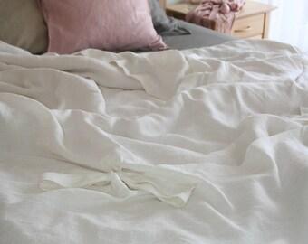 White Linen duvet cover, Life in Linen, Linen duvet cover