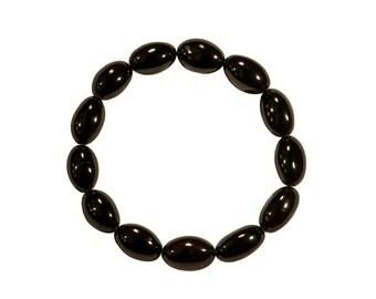 """Amber Bracelet """"Black Beans"""""""