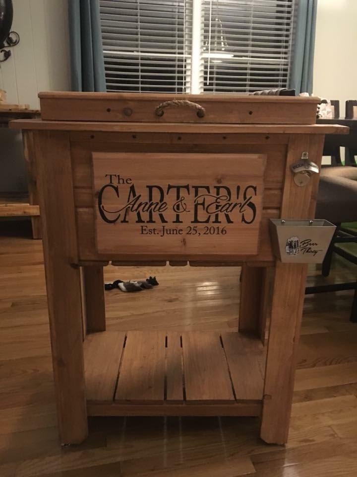 Custom Rustic Wooden Cooler