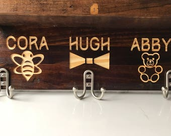 Custom Dog leash hanger