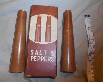 Mid-Century Modern Vintage Tall Salt & Pepper Shakers