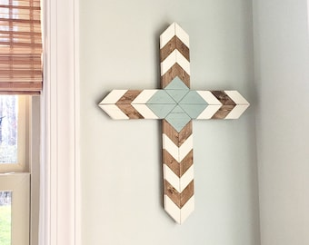 Tribal Wood Cross