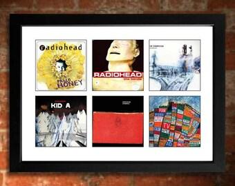 RADIOHEAD Vinyl Albums Limited Edition Unframed A4 Art Print mini poster