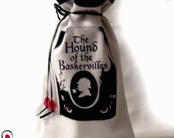 Sherlock Holmes Wine Bag, The Hound Of The Baskervilles Wine Bag, Sherlock Whiskey bag, Holmes bag, Sir Arthur Conan Doyal inspired Bag