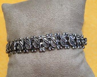 Ethnic 925 silver bracelet